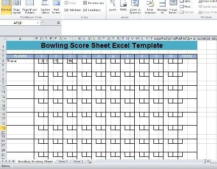 Bowling-Score-sheet
