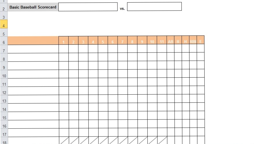 Bassball-excel-template