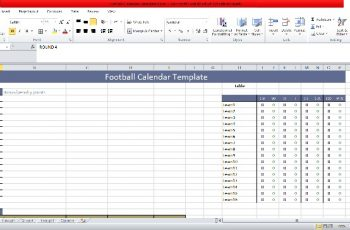 Football Calendar 2019 Free