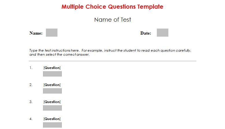 Multiple Choice Test Maker