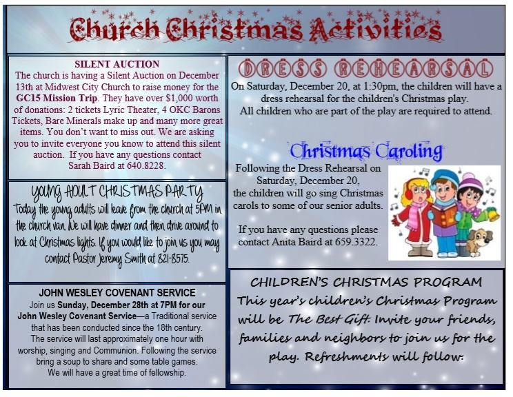 Church Program Template Word Free Download