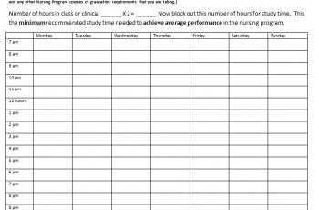 Editable Nursing Schedule Template Free [Excel+Word+PDF]