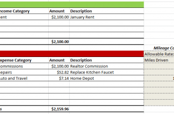 Rental Property Expenses Spreadsheet 5+ Free Download