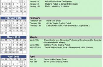 Event Planning Calendar Template Free Download