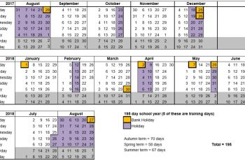 Free Printable Academic Calendar Templates [Excel, Word, PDF]