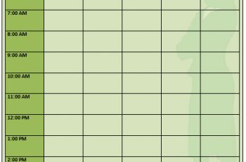 Printable Daily Planner Template 5+ Word and Excel Free Download