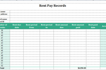 Free Rent Payment Tracker Spreadsheet – 25+ Examples