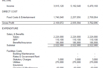 Projected Income Statement Template Free [Excel+Word+PDF]