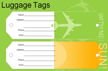 5+ Free Editable Luggage Tag Template