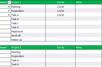 To Do List Template in Excel Free Download 2020