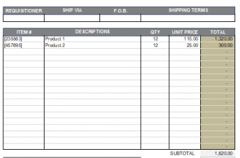 Free Purchase Order Template [Word+Excel]