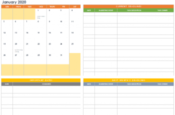 Free Printable Marketing Calendar Example [Excel, Word]