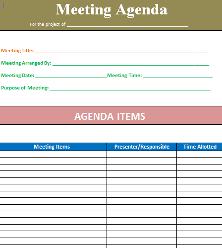 5+ Meeting Agenda Template Word [100%] Free Download