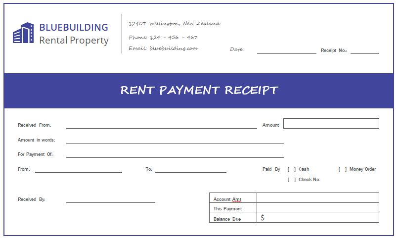 Rent Payment Receipt Template