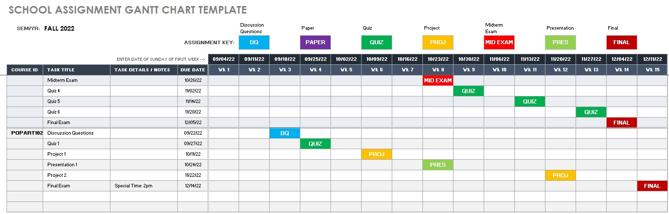 gantt chart excel template download