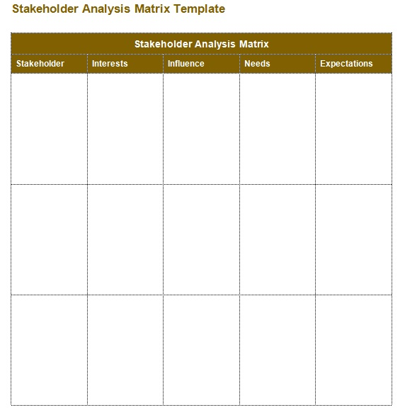 stakeholder analysis template word