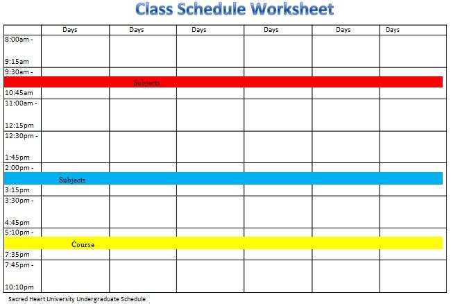 college schedule creator