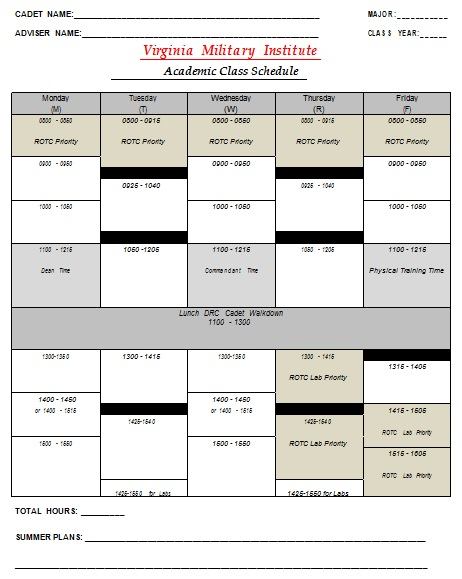 college course schedule maker