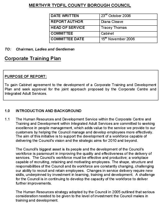 employee training program template