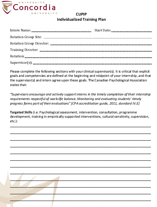 workplace training plan template