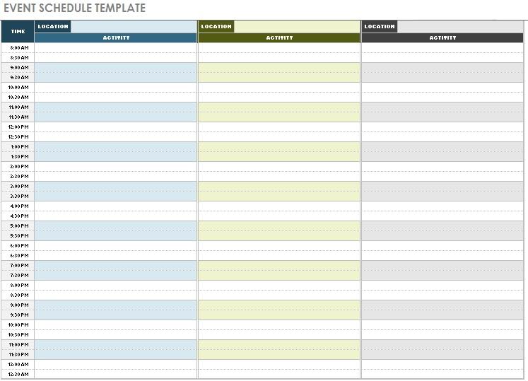 event management calendar