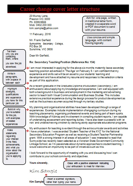 career change cover letter samples