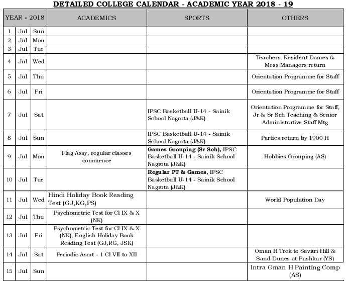 academic year planner printable