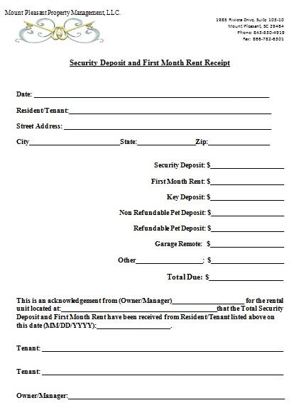 rent payment receipt format