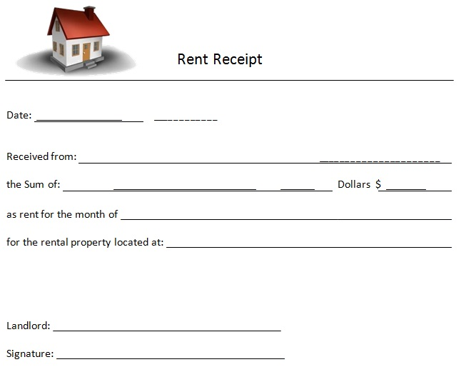 acknowledgement receipt for rental payment