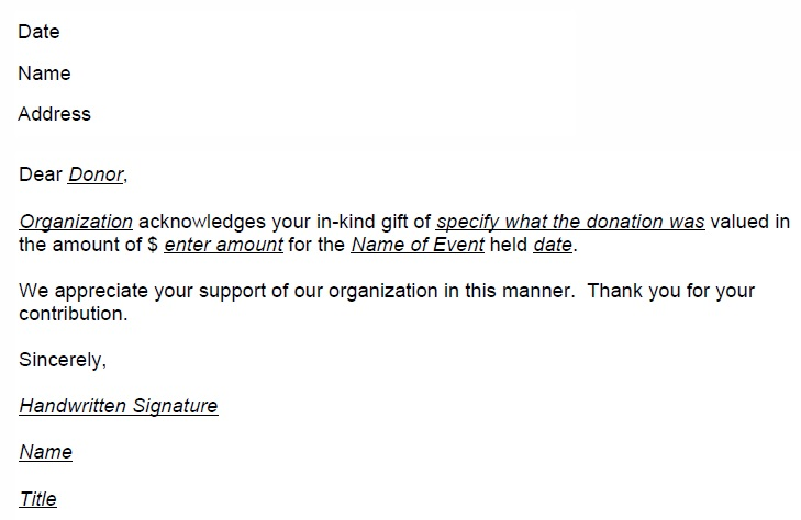 thank you for your generous support