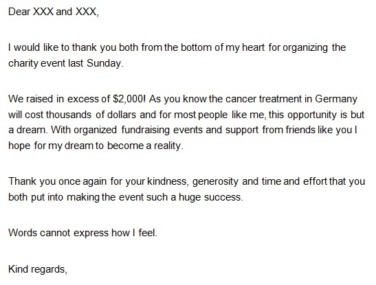 thank you note after receiving donation
