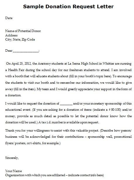 car donation letter template