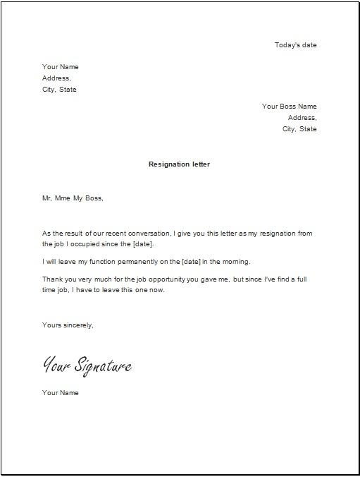 2 week notice letter
