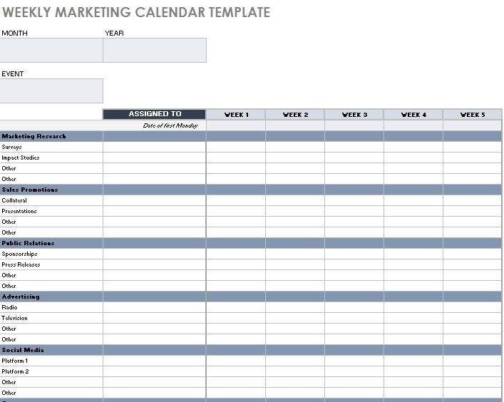 social media plan template excel