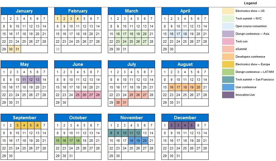 campaign calendar template