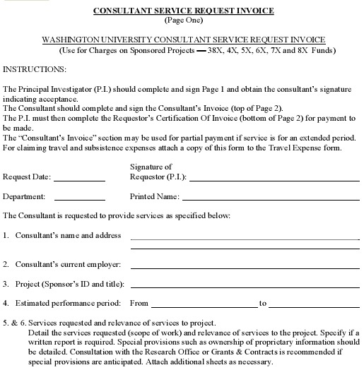 consultancy invoice format
