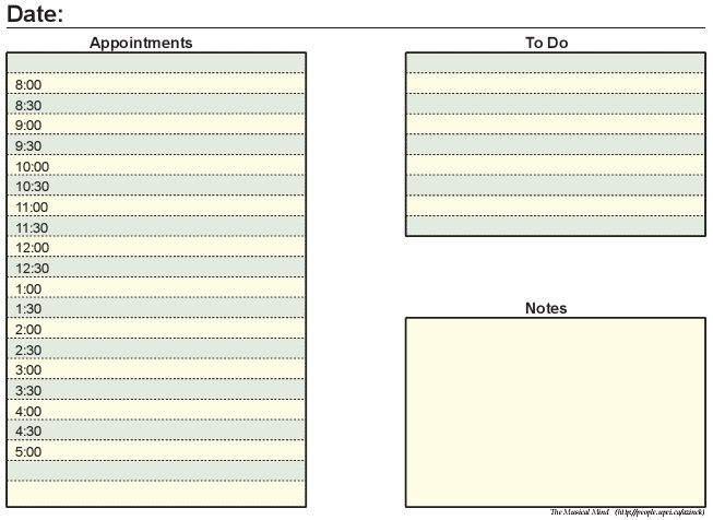 daily appointment book