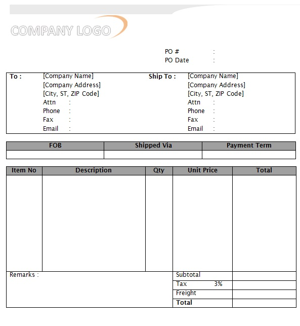 purchase order doc