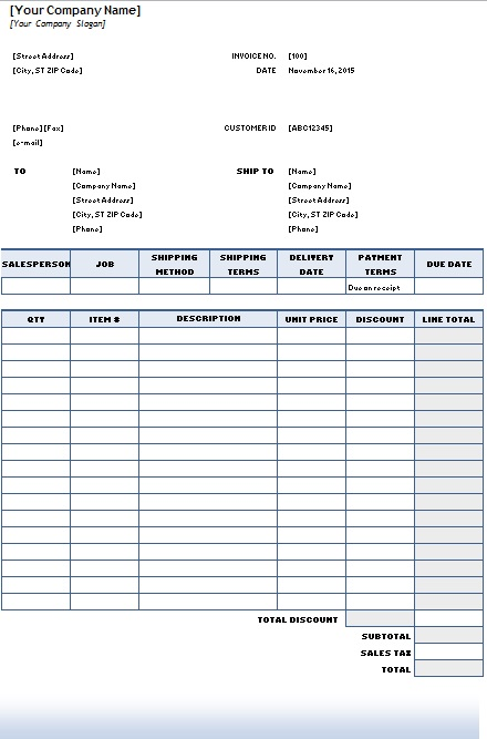 purchase order format in excel