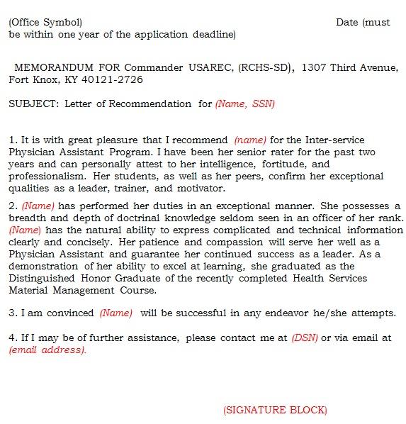 reference letter sample