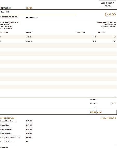 sales invoice generator