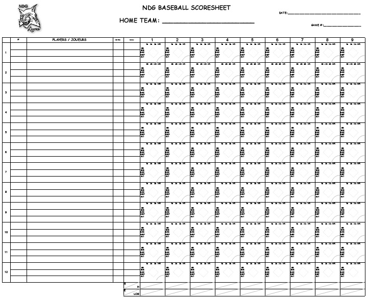 baseball scorebook pdf