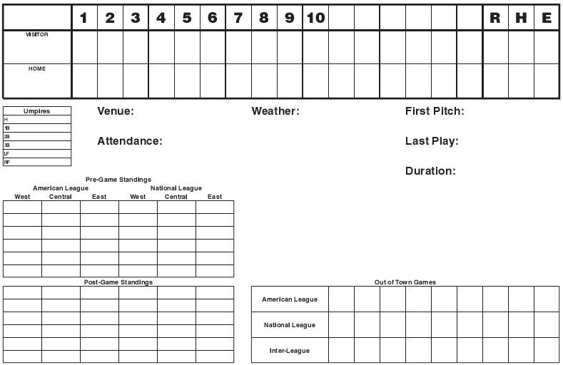baseball scorebook page