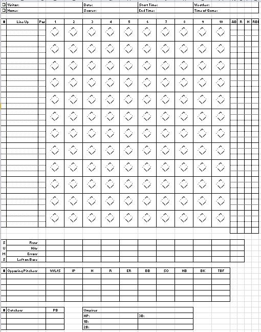 baseball stats tracker template
