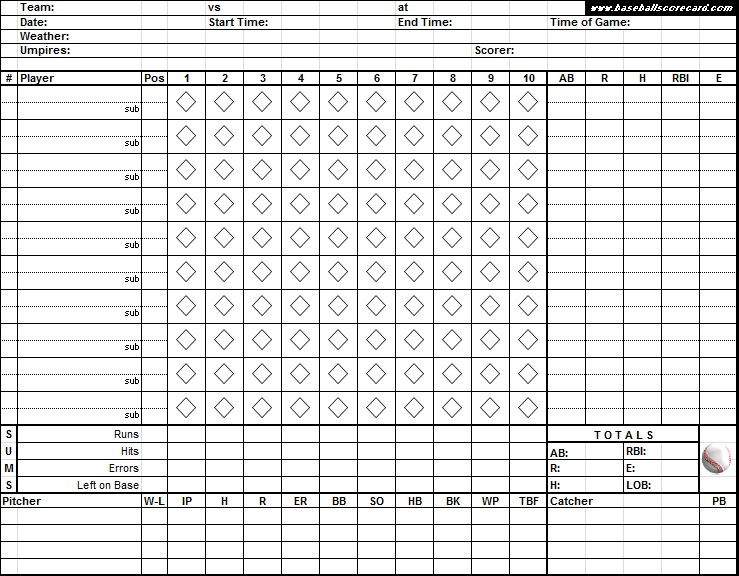 printable baseball scorecard