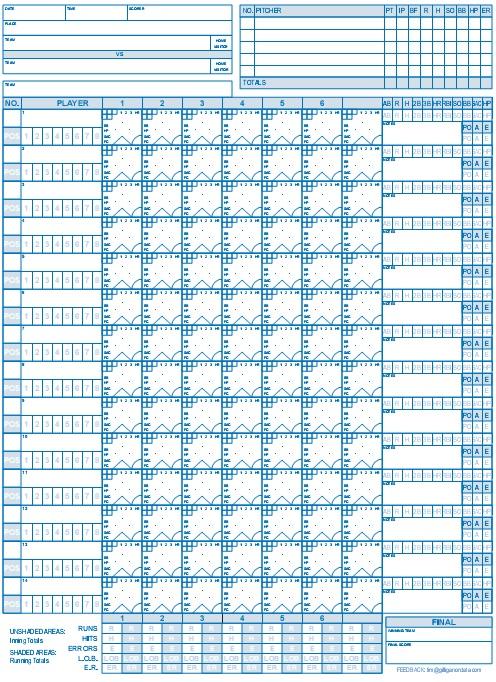 baseball scorebook printable