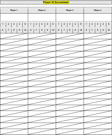 bowling scorecard printable