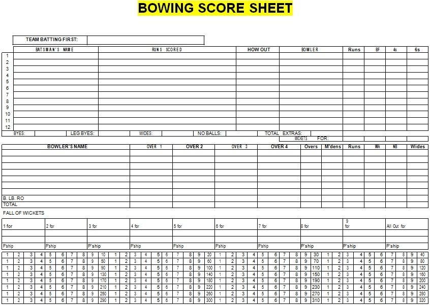 bowling score sheet example