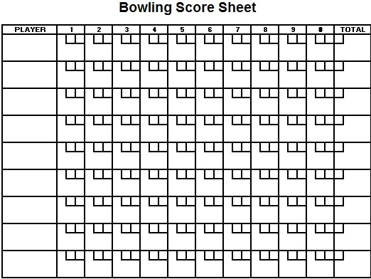 bowling score sheet templates