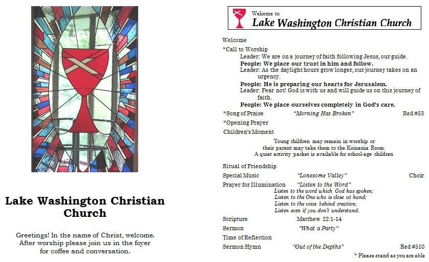editable church program template